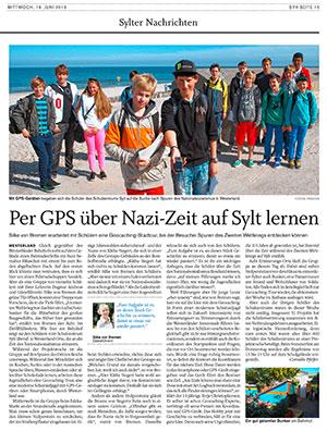 Per Geocaching auf den Spuren der Sylter NS-Zeit