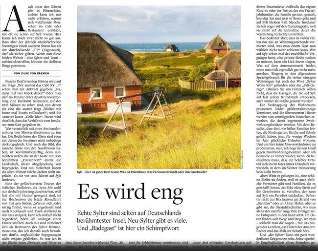Die Welt 12./13. April 2014