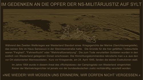 Gedenktafel für die Opfer der Sylter Wehrmachtsjustiz