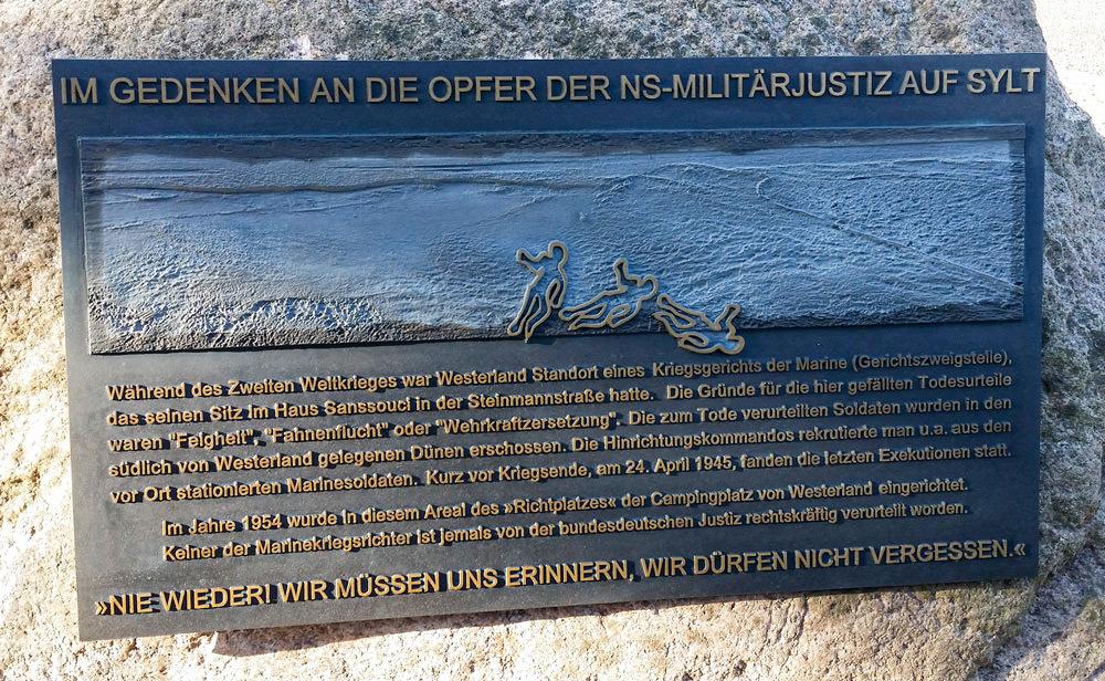 Gedenkstein für die Opfer der Wehrmachtsjustiz.